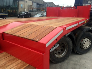 Broshuis 4 Axle Step Extender with Ramps