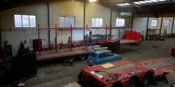 Modifying an SDC step truss carrier trailer