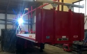 Modifying an SDC step truss carrier trailer